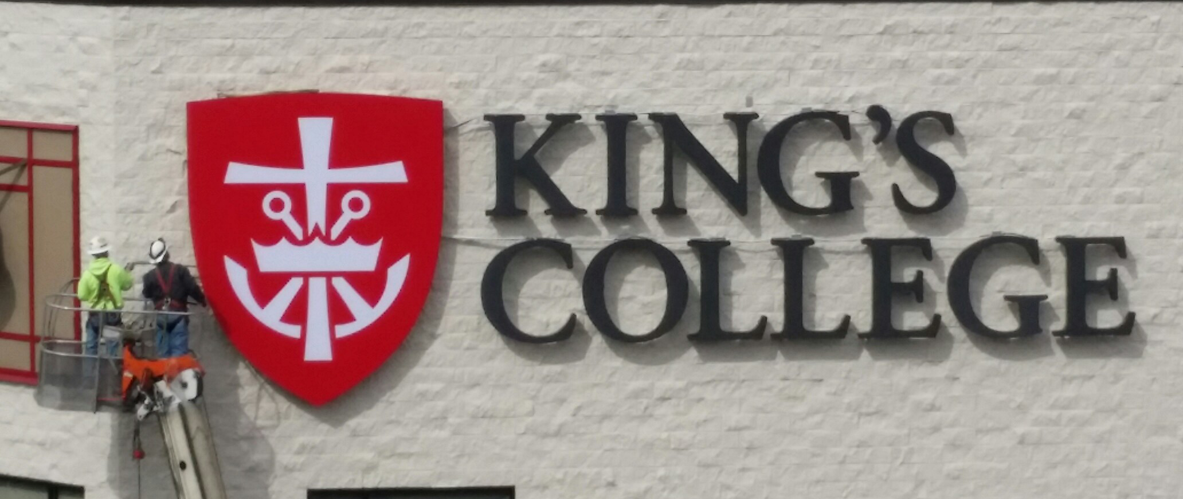 King's College Channel Letters in the Day Time