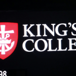 King's College Illuminated Channel Letters at Night Time